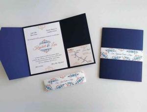 Invitación color classic blue