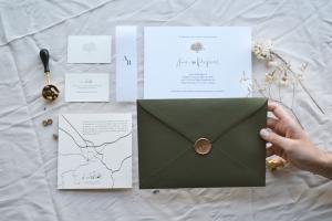 Invitaciones con sello de lacre