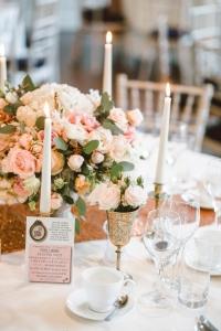 Decoración de bodas en color rosa